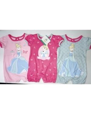 DISNEY CINDERELLA 3 PACK BABY ROMPERS