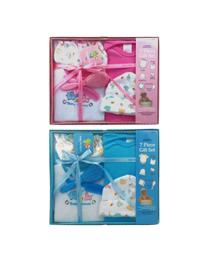 7 PCS BABY BOY OR GIRL GIFT SET 0/6 MONTHS