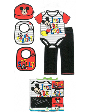 MICKEY MOUSE 5 PCS LAYETTE 0/6 MONTHS
