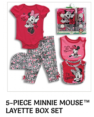 MINNIE MOUSE BABY GIFT SET 5 PIECES 0-6 MONTHS