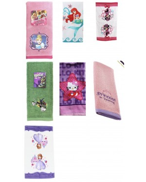 Disney and License Hand Towel 100% cotton for boys or girls