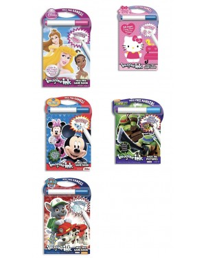 Disney & License Imagine Ink Mess Free Game Book For Boys And Girls