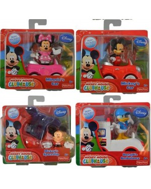Disney Fisher-Price Mickey and Friends World Figure Car Toys for Boys/ Girls (2+ Years old)