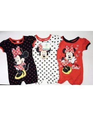 DISNEY MINNIE MOUSE 3 PACK BABY ROMPERS