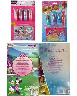 Disney Princess or Minnie Mouse 4 Pack Lip Gloss For Baby Girls (3+ Years)