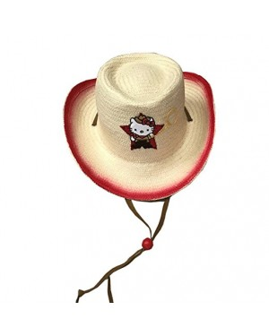 Hello Kitty Straw Hat For Baby/ Toddler/ Teen Girls