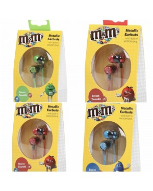M & M'S METALLIC DIGITAL EARBUDS