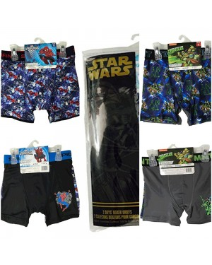 DISNEY AND LICENSE 2 PACK BOXER UNDERWEAR