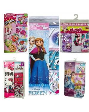 DISNEY 3 PACK PANTIES FOR GIRLS