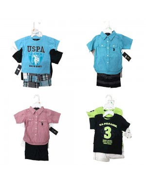 US POLO 3 PIECES BABY SET 12-24 MONTHS