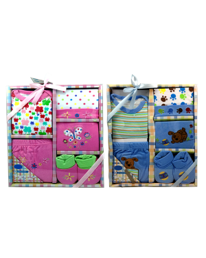5 PCS BABY BOY OR GIRL GIFT SET 0/6 MONTHS