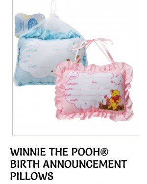 WINNIE THE POOH BIRTH ANNOUNCEMENT PILLOW