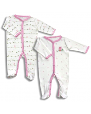 NEWBORN SLEEP-N-PLAY COVERALL BABY PAJAMAS SET(2 PIECES)