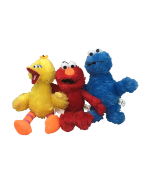 10'' SESAME STREET PLUSH(BIG BIRD,ELMO OR COOKIE MONSTER)