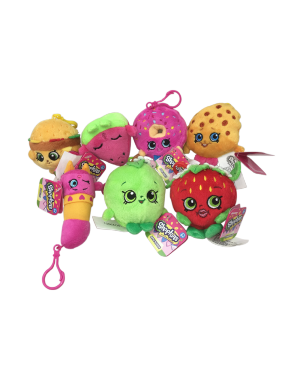4-5 ASSORTED SHOPKINS CLIP PLUSH