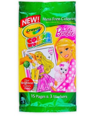 Crayola Color Wonder Barbie Mini Coloring Pad and Markers Mess Free For girls