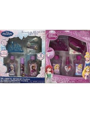 Disney Princess or Frozen Royal Beauty 6 pcs Bath Gift Set for Baby Girl (3+ years)