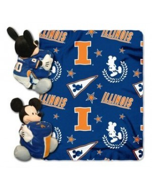 MICKEY NCAA ILLINOIS THROW WITH 14 INCH PLUSH