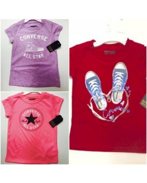 GIRLS T-SHIRTS CONVERSE 4-7 YEARS
