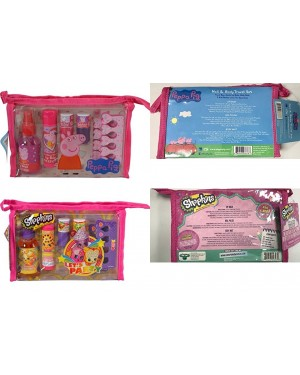 Shopkins or Peppa Pig Nail & Body Travel Christmas Gift Set For Girls (3+ years)